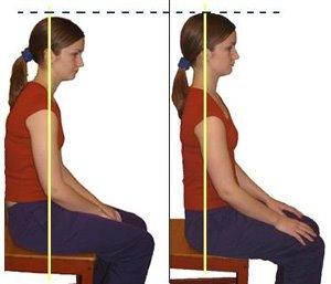dos posturas sentada